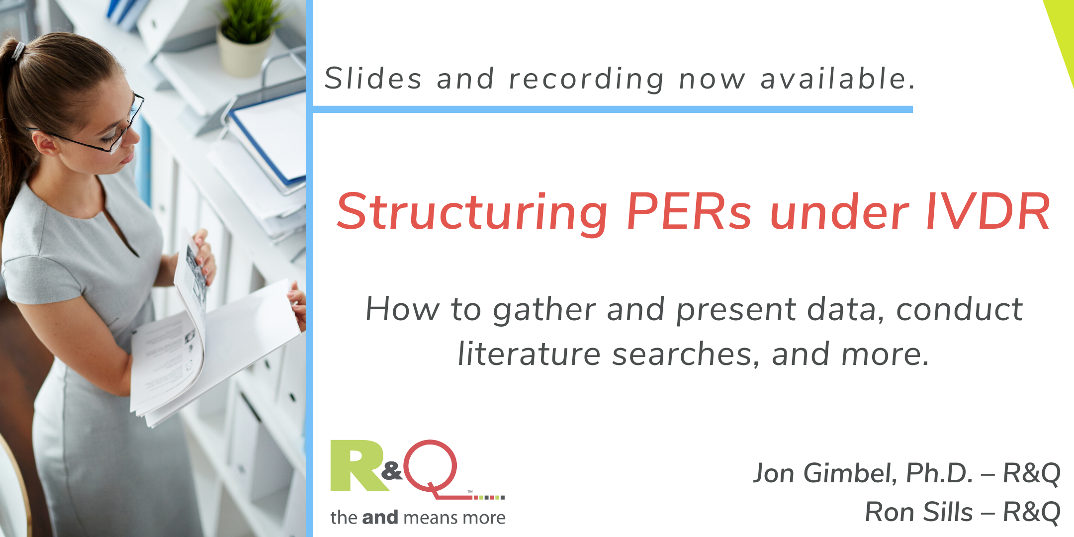 Structuring PERs under IVDR