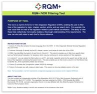 RQM-IVDR-Filtering-Tool