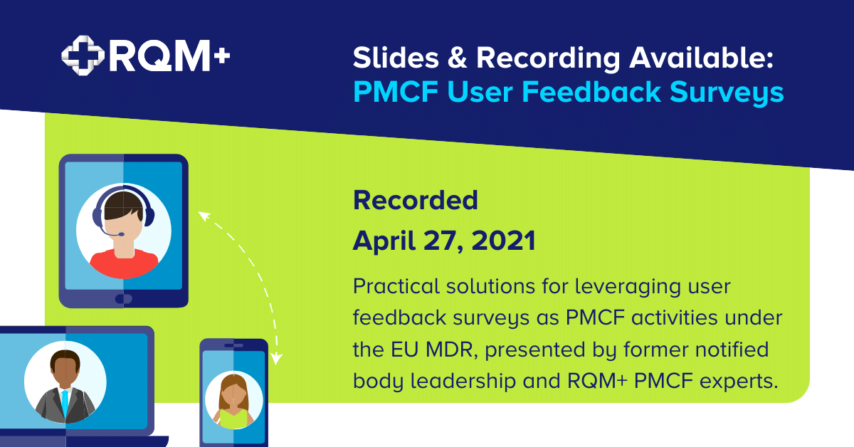PMCF User Feedback Surveys